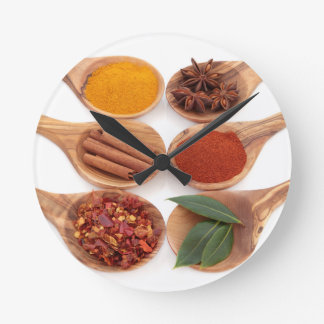 """""""Spectacular Herbs and Spices"""" Wall Clock"""