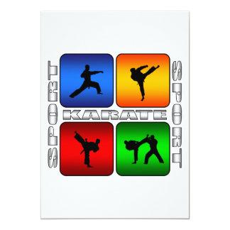 Spectacular Karate 5x7 Paper Invitation Card