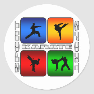 Spectacular Karate Classic Round Sticker