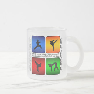 Spectacular Karate Frosted Glass Coffee Mug