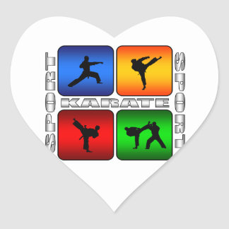 Spectacular Karate Heart Sticker