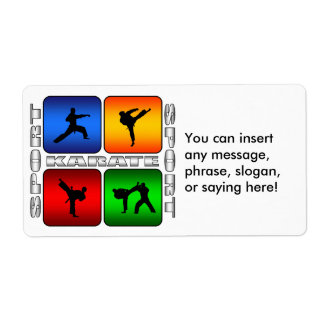 Spectacular Karate Label
