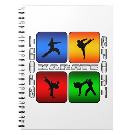 Spectacular Karate Spiral Notebook