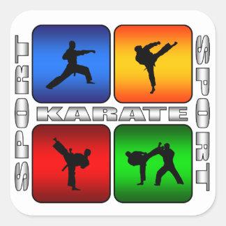 Spectacular Karate Square Sticker