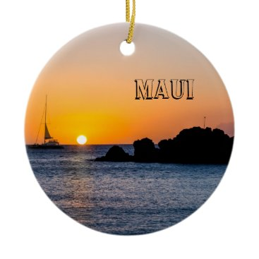 Beach Themed Spectacular Maui Ceramic Ornament