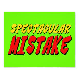 Spectacular Mistake Invite