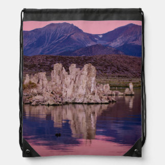 Spectacular Mono Lake In The Shadow Drawstring Backpack