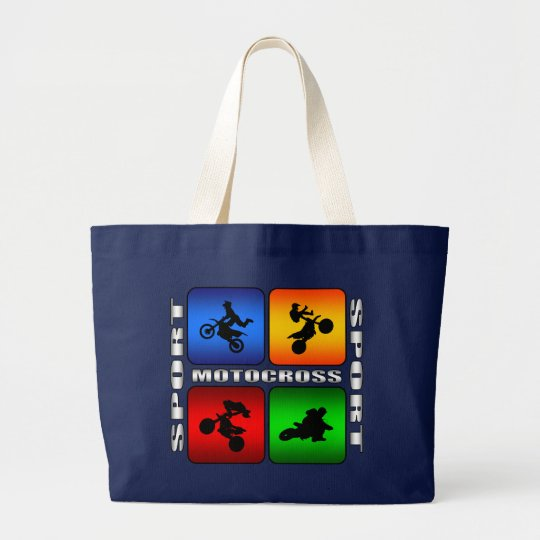 Spectacular Motocross Large Tote Bag