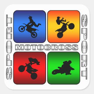 Spectacular Motocross Square Sticker