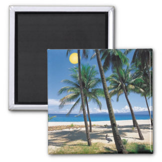 Spectacular Ocean and Beach View Design 2 Inch Square Magnet
