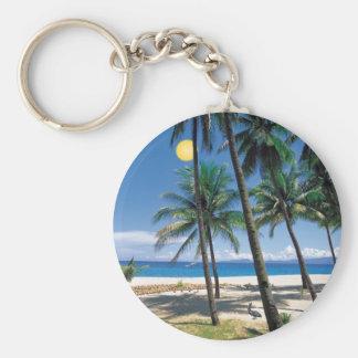 Spectacular Ocean and Beach View Design Keychain