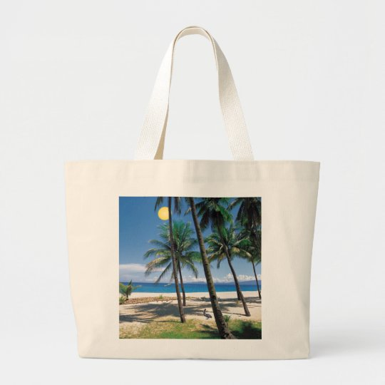 Spectacular Ocean and Beach View Design Large Tote Bag