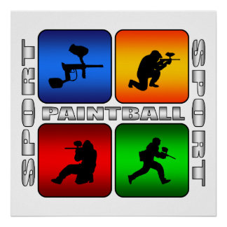 Spectacular Paintball Poster