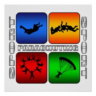 Spectacular Parachuting Poster