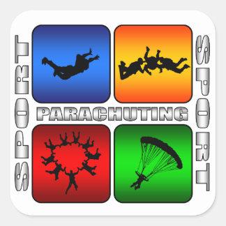 Spectacular Parachuting Square Sticker