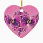 Spectacular Pink - Fractal Ceramic Ornament