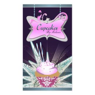 Spectacular Pink Swirl Cupcake Business Card