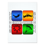 """Spectacular Skydiving 5"""" X 7"""" Invitation Card"""