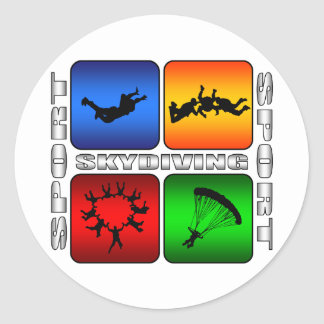 Spectacular Skydiving Classic Round Sticker