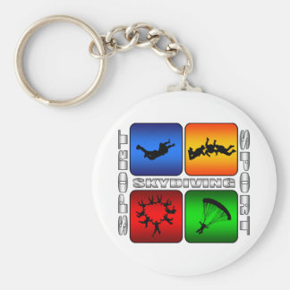 Spectacular Skydiving Basic Round Button Keychain