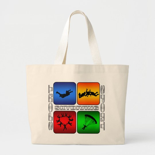 Spectacular Skydiving Large Tote Bag