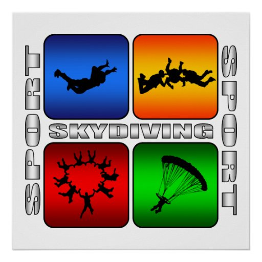 Spectacular Skydiving Poster