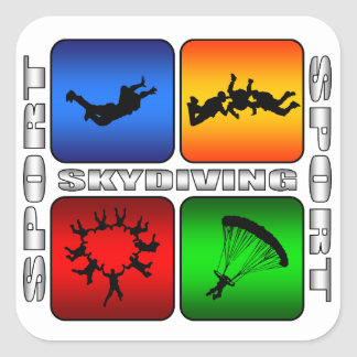 Spectacular Skydiving Square Sticker