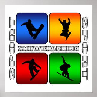 Spectacular Snowboarding Poster