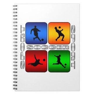 Spectacular Soccer Spiral Notebook