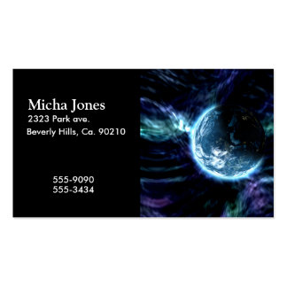 Spectacular Space Starry Aurora Nebula Double-Sided Standard Business Cards (Pack Of 100)