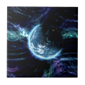 Spectacular Space Starry Aurora Nebula Ceramic Tile