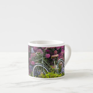 Spectacular spring bloom, whimsical antique espresso cup