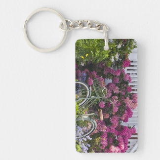 Spectacular spring bloom whimsical antique acrylic key chain