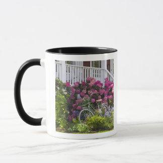 Spectacular spring bloom, whimsical antique mug