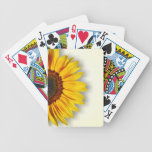 Spectacular Sunflower Playing Cards