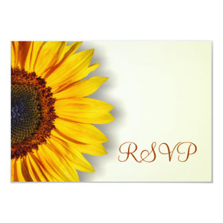 Spectacular Sunflower RSVP Card