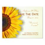 "Spectacular Sunflower Save The Date Card 4.25"" X 5.5"" Invitation Card"