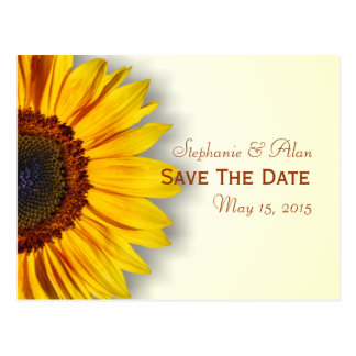 Spectacular Sunflower Save The Date Postcard