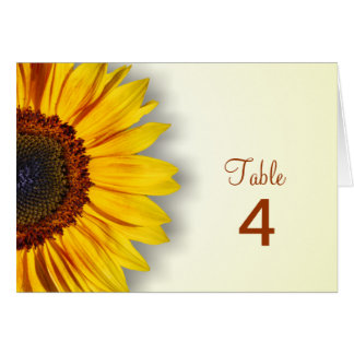 Spectacular Sunflower Table Card