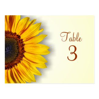 Spectacular Sunflower Table Number Postcard