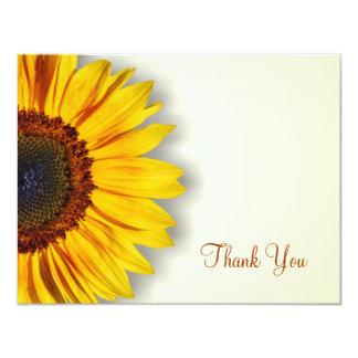 Spectacular Sunflower Thank You Card