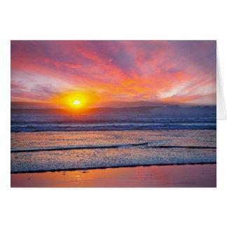 Spectacular Sunset at Huntington Beach Card