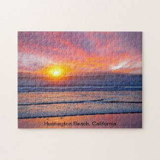 Spectacular Sunset at Huntington Beach Puzzle