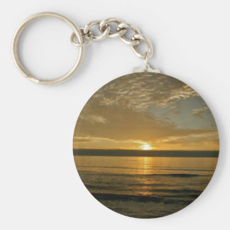 SPECTACULAR SUNSET AT THE PACIFIC OCEAN KEYCHAIN