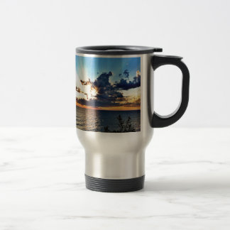 Spectacular sunset over Lake Michigan Travel Mug