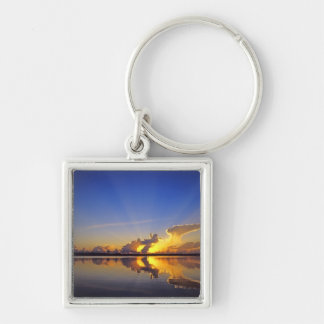 Spectacular Sunset over the Little Muddy River Keychain