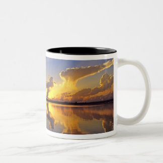 Spectacular Sunset over the Little Muddy River Two-Tone Coffee Mug