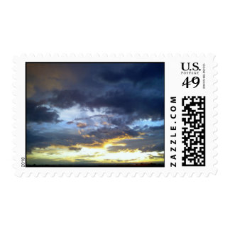 Spectacular Sunset Postage Stamp