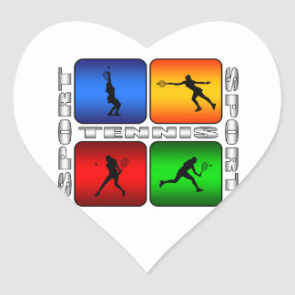 Spectacular Tennis (Female) Heart Sticker