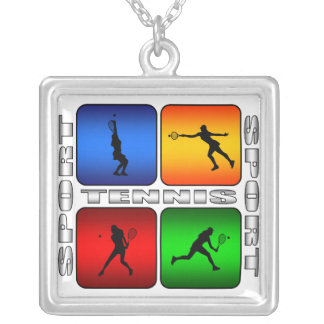Spectacular Tennis (Female) Silver Plated Necklace